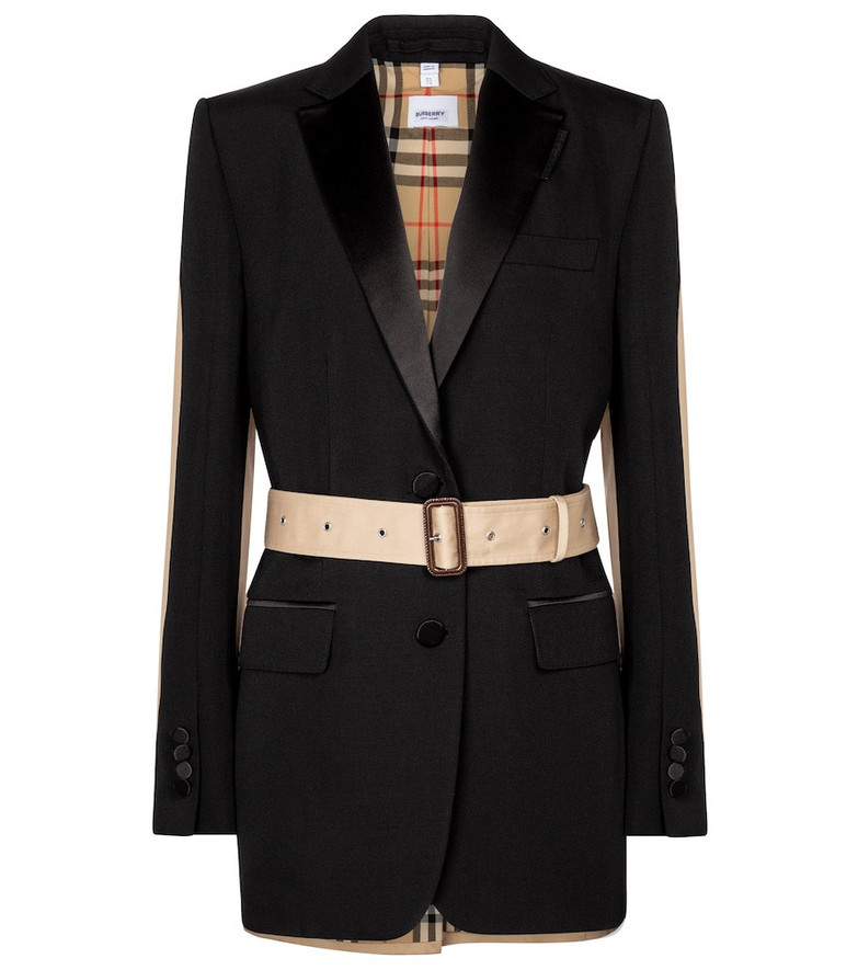 Burberry Exclusive to Mytheresa – Sidon wool hybrid blazer in black