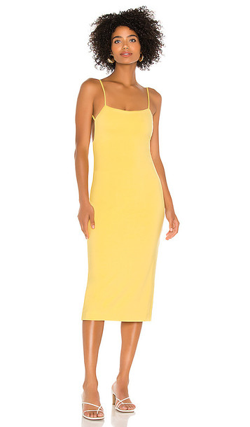 NBD Carmensita Midi Dress in Lemon in yellow