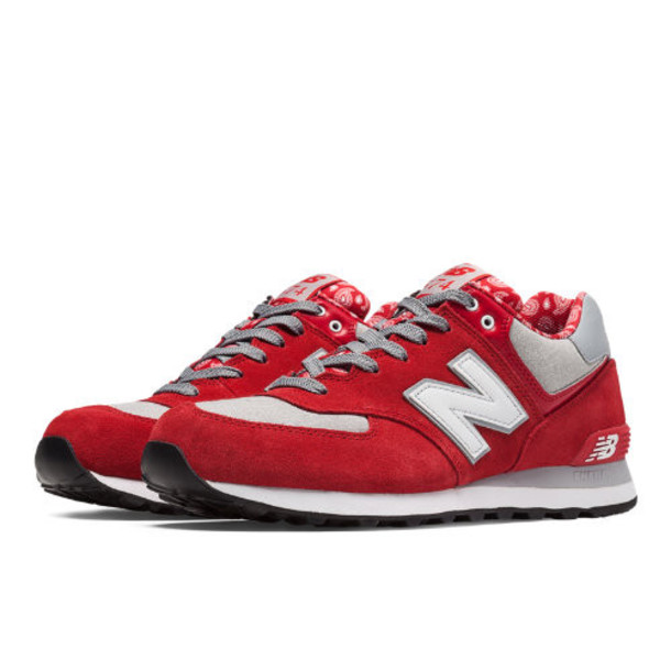 New Balance 574 Paisley Men's 574 Shoes - Red, Grey (ML574LCM)