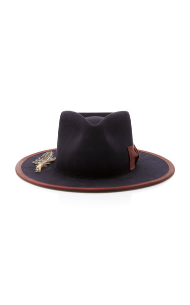 Nick Fouquet Cuba Tornado Feather-Embellished Fedora in black