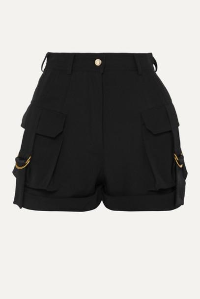 Balmain - Grain De Poudre Wool Shorts - Black