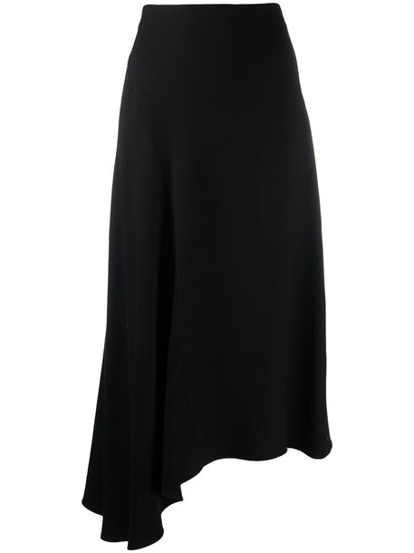 Vince asymmetric maxi skirt in black