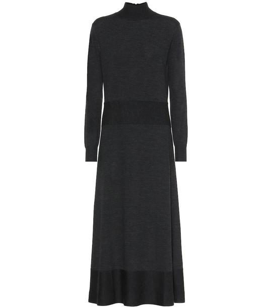 Agnona Wool midi dress in black