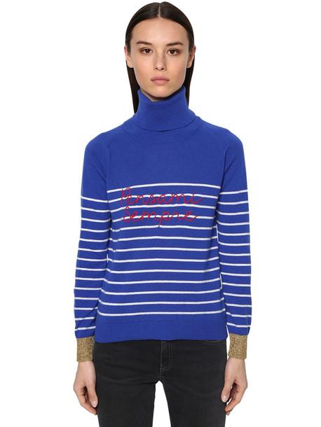 GIADA BENINCASA Ciao Amore Cashmere Knit Sweater in blue / white