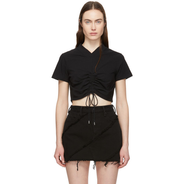 alexanderwang.t Black Ruched T-Shirt