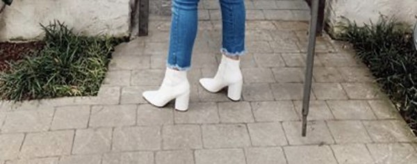 shoes white boots