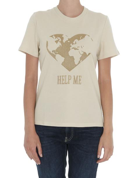 Alberta Ferretti Help Me T-shirt in beige
