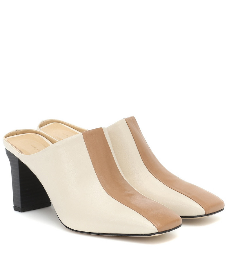 Aeydē Jude leather mules in beige