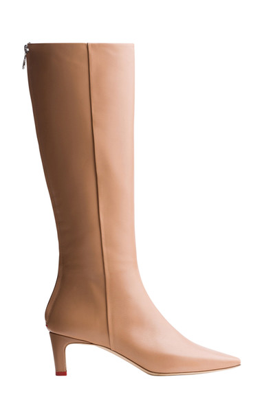 Aeyde Sidney Leather Knee-High Boots in neutral
