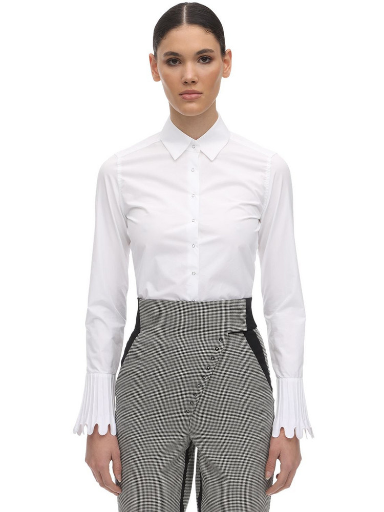 COPERNI Cotton Poplin Cropped Shirt in white
