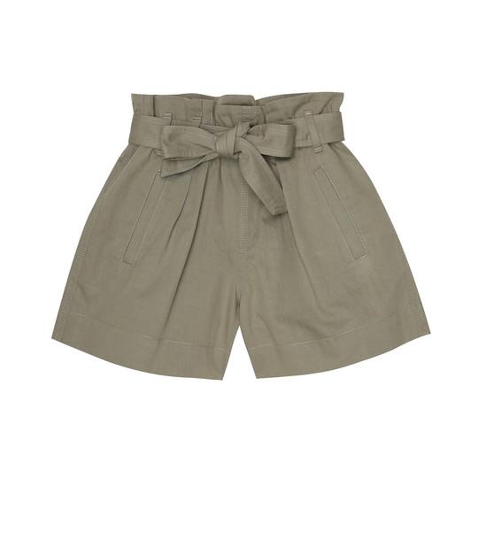 Brunello Cucinelli Kids Cotton-blend shorts in beige