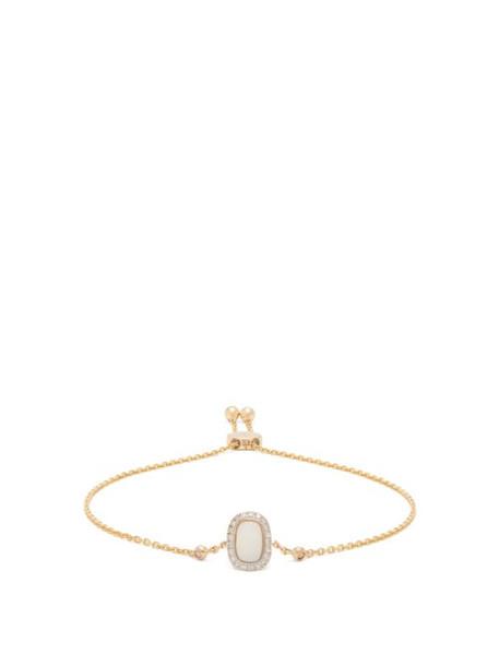 Anissa Kermiche - October Opal, Diamond & Gold Bracelet - Womens - White Multi