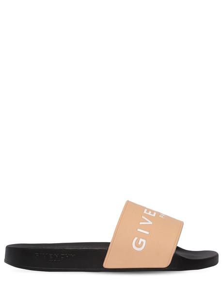GIVENCHY Logo Rubber Slide Sandals in pink