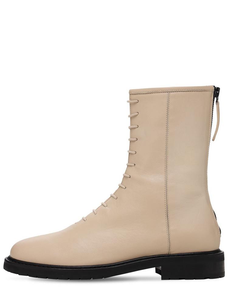 LEGRES 20mm Leather Combat Boots