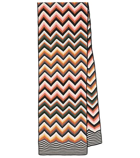 Missoni Zig-zag wool-blend knit scarf
