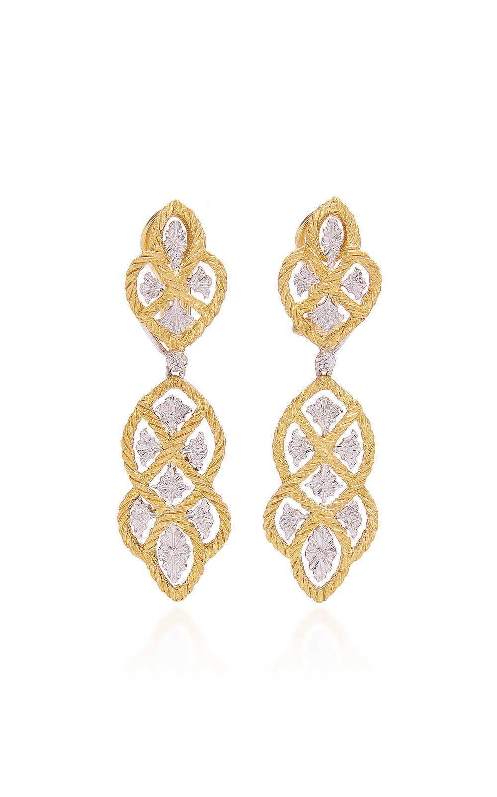 Buccellati Etoilee Pendant Earrings in gold