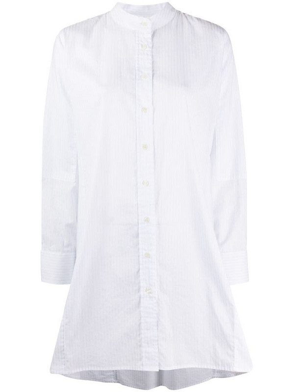 Soulland Elisa striped shirt dress in white