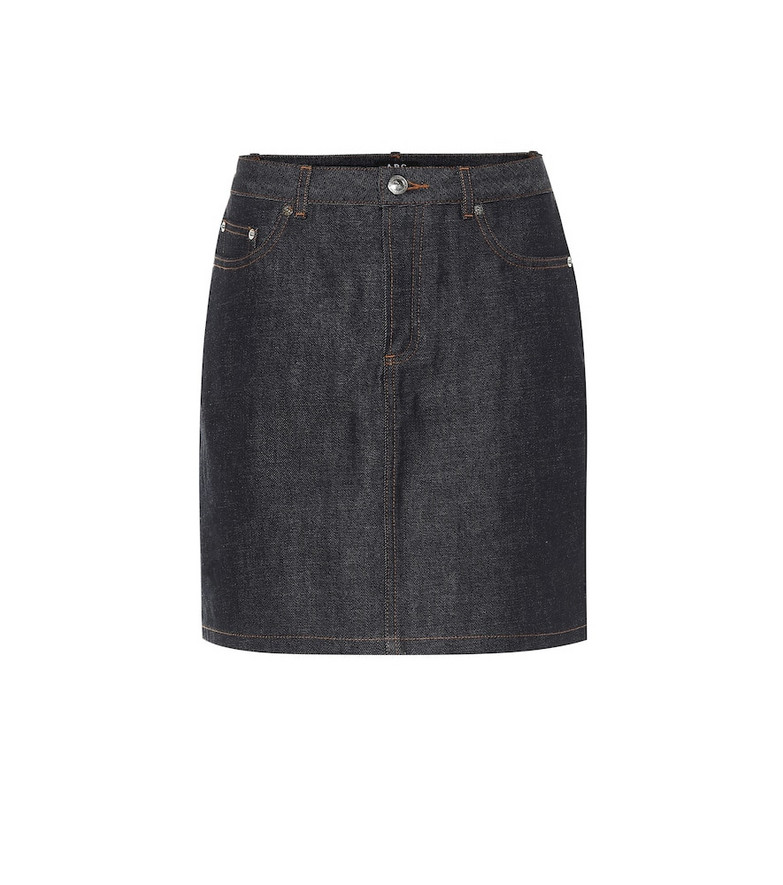 A.P.C. Standard denim skirt in blue