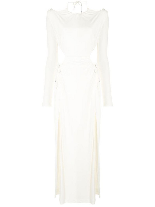 Dion Lee ruched cut-out dress in white