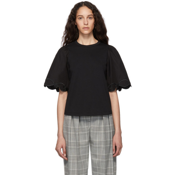 See by Chloe Black Embellished T-Shirt