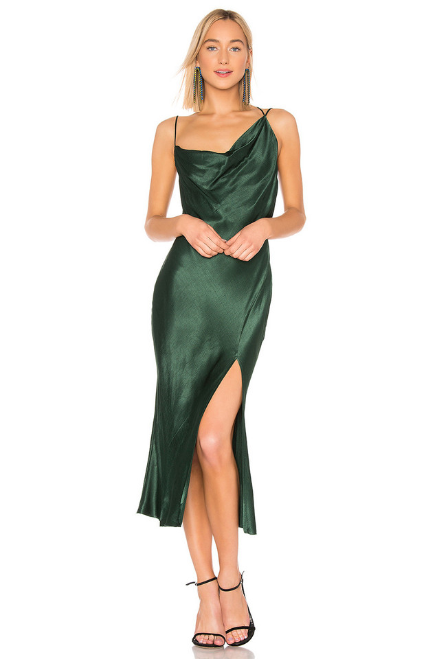 BEC&BRIDGE Martini Club Split Dress in green