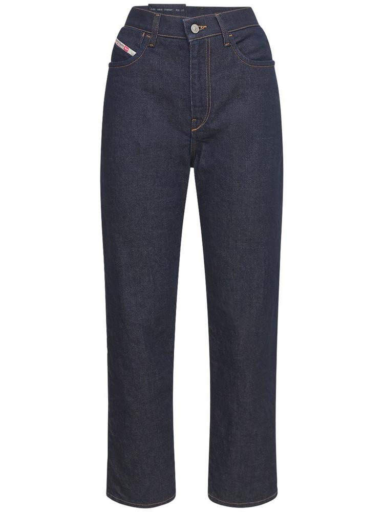 DIESEL Air Boyfriend High Rise Denim Jeans in blue