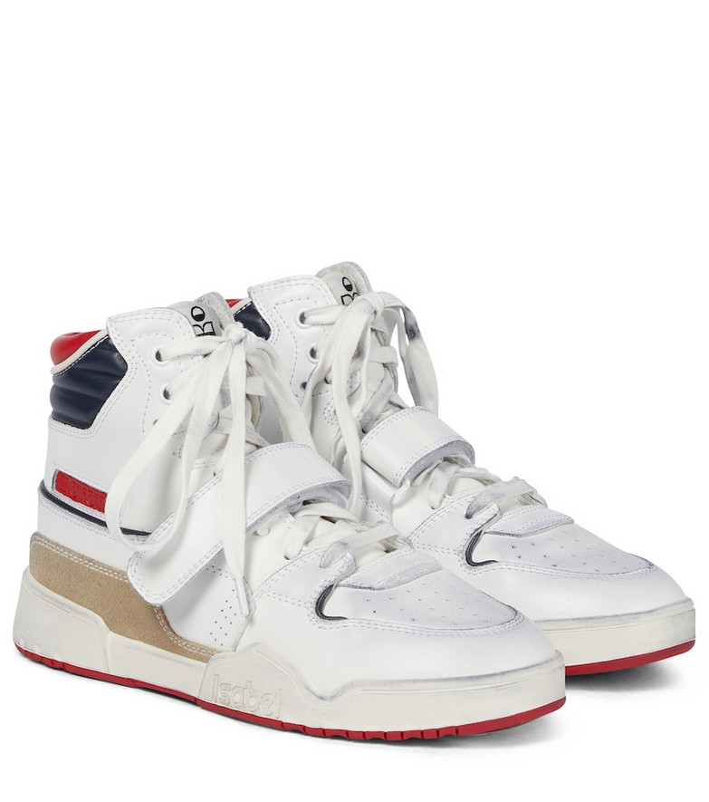 Isabel Marant Leather sneakers in white