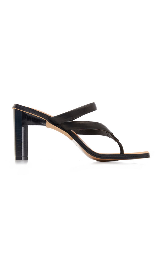 Miista Sebrina Leather Sandals in black