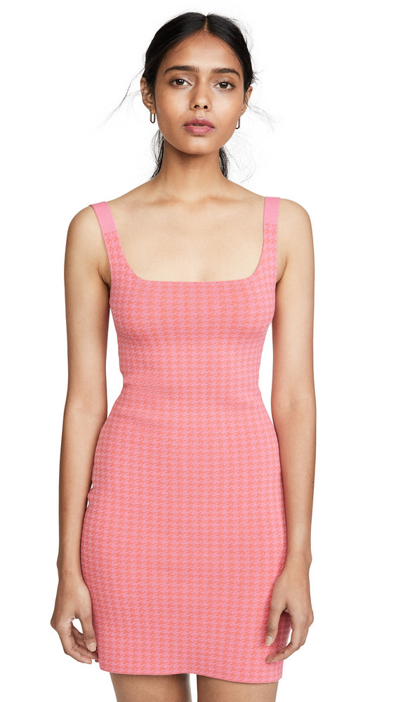 NAGNATA Houndstooth Dress in pink