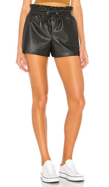 n:philanthropy Emma Vegan Leather Short in Black