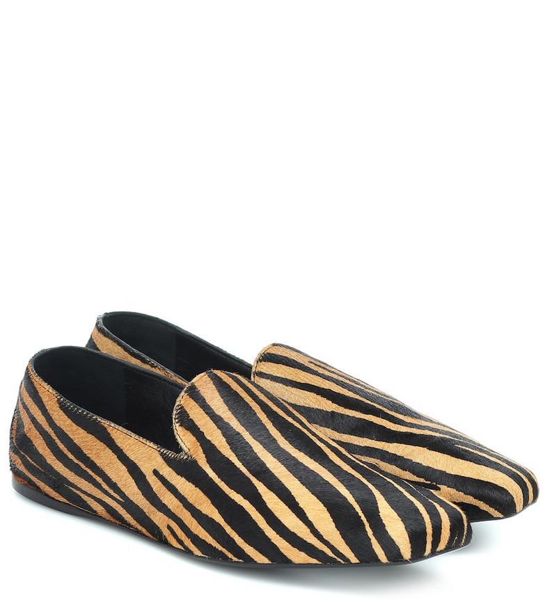 Mercedes Castillo Cora calf hair ballet flats in brown