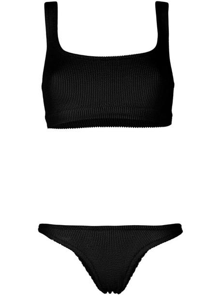 Reina Olga seersucker bikini set in black