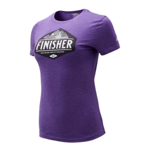 New Balance 93642 Women's NYC Marathon Finisher Skyline Tee - Purple (WT93642MPTP)