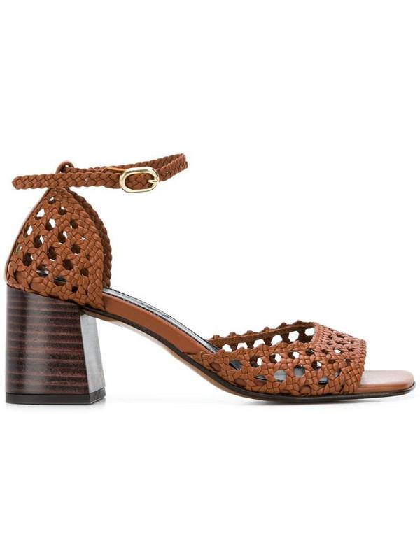 Souliers Martinez Ibiza block heel sandals in brown
