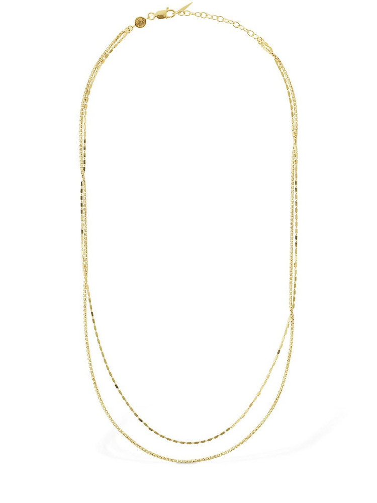 MISSOMA Box Link Double Chain Necklace in gold