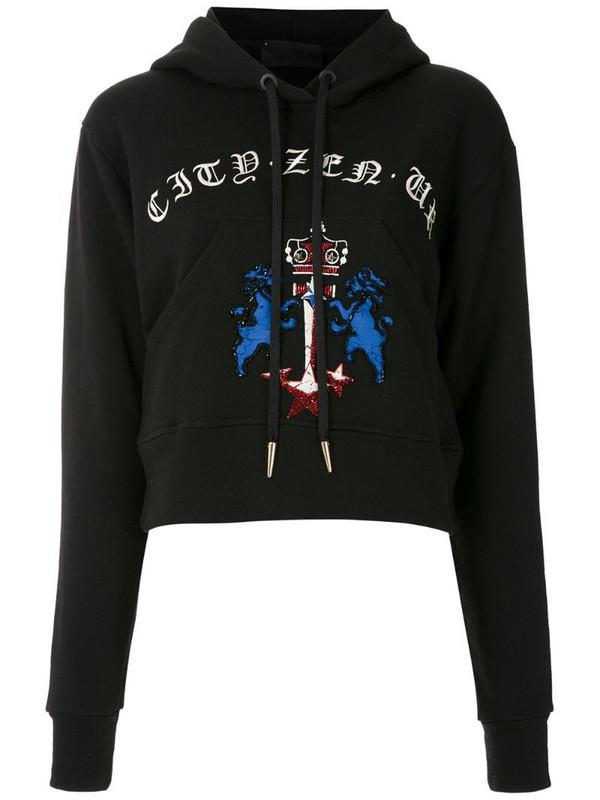 Andrea Bogosian Risk cropped hoodie in black
