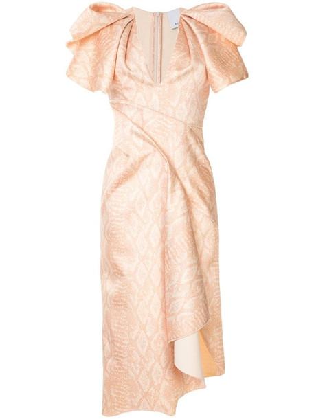 Acler Redwood cobra print dress in neutrals