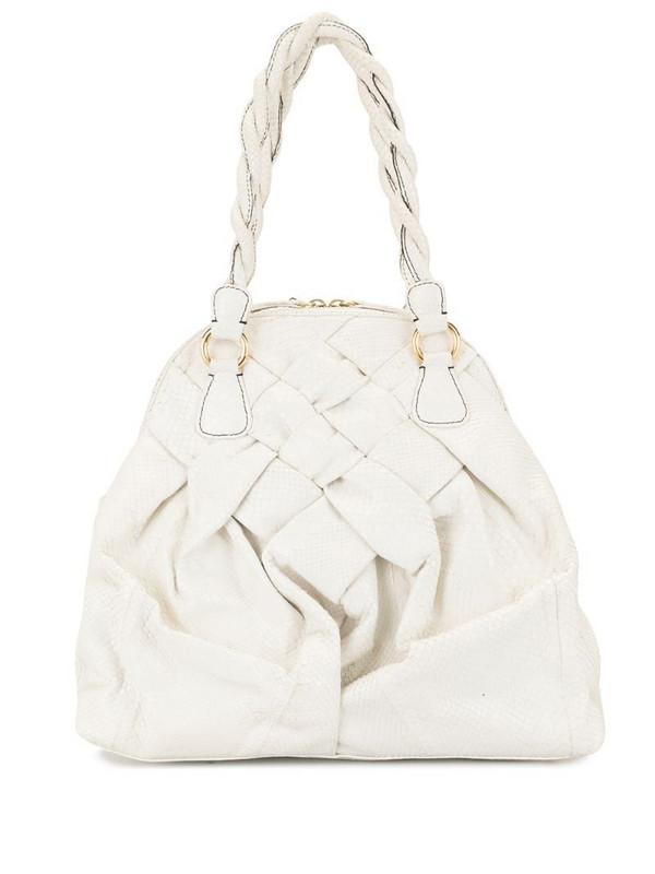 Valentino Pre-Owned snakeskin-effect tote bag in white