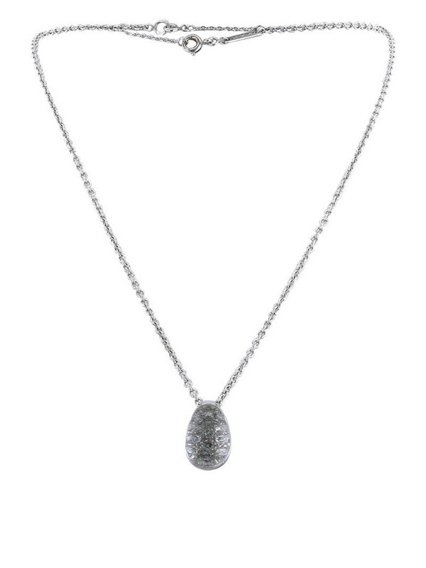Cartier 2000s pre-owned 18kt white gold diamond crystal pendant necklace