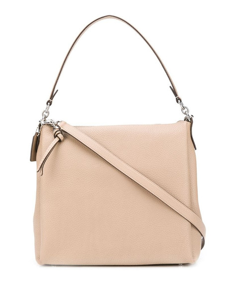 Coach Shay pebbled tote bag in neutrals