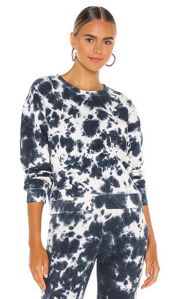 525 america Tie Dye Pullover Sweatshirt in Blue in multi