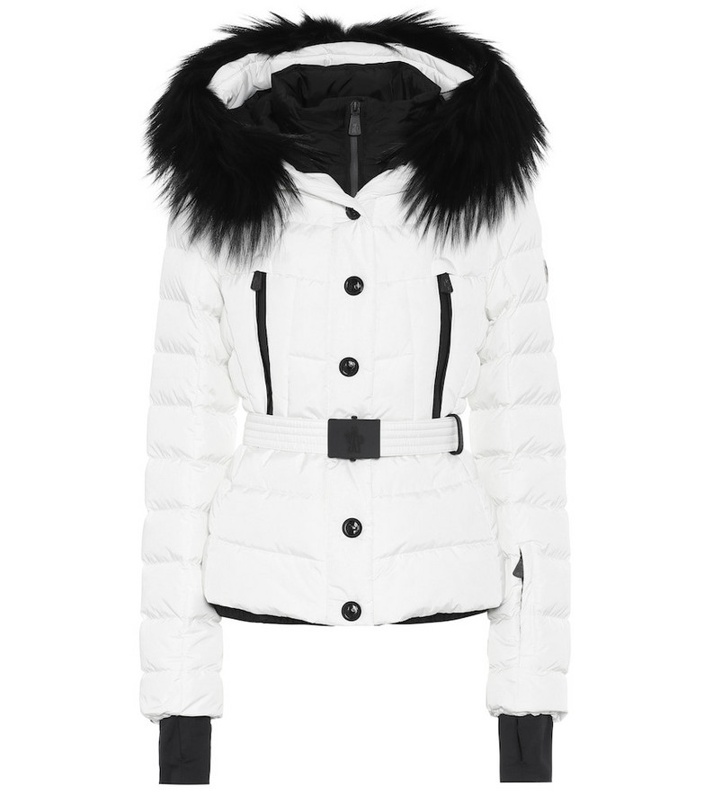 Moncler Grenoble Beverley fur-trimmed ski jacket in white