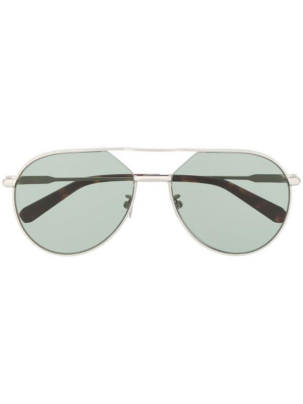 Brioni double nose bridge sunglasses in silver