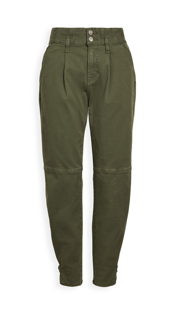 Veronica Beard Jean Monika Tapered Pants in green