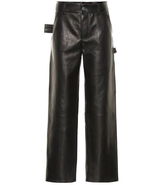 Bottega Veneta Leather pants in black