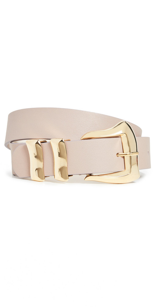 B-Low The Belt Logan Belt in taupe / gold