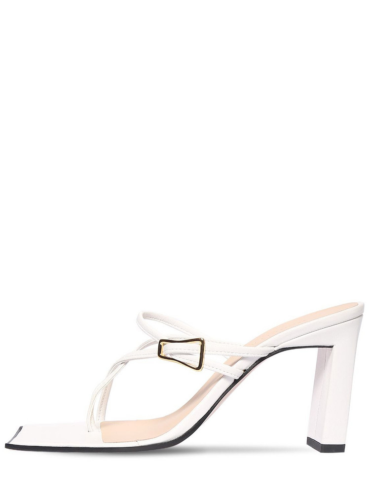 WANDLER 85mm Yara Leather Sandals in white
