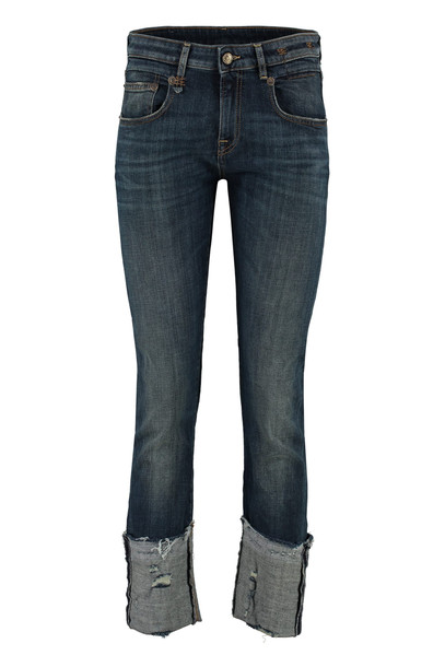 R13 Boy Turn-up Cropped Jeans in denim / denim