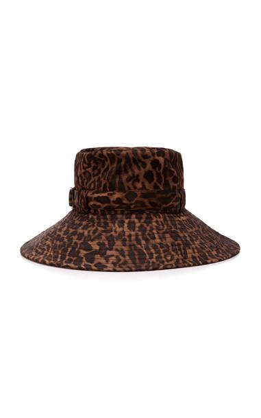 Eric Javits Kaya Leopard-Print Shell Bucket Hat