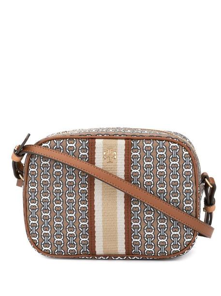 Tory Burch Gemini link canvas mini bag in brown
